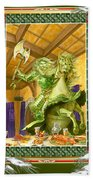 The Green Knight Christmas Card Hand Towel