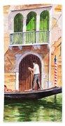 The Green Shutters - Venice Bath Towel