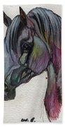 The Grey Horse Drawing 1 Bath Towel