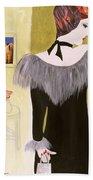 The Handbag, 2004 Acrylic With Collage On Paper Bath Towel