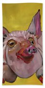 The Happiest Pig In The World Bath Towel