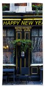 The Happy New Year Pub Bath Towel