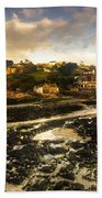 The Harbour At Lee  Bath Towel