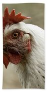 The Head Of A Rooster Bath Towel