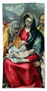 The Holy Family With St Elizabeth Bath Towel