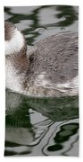 The Horned Grebe Bath Towel