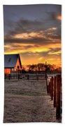 The Horse Barn Sunset Bath Towel