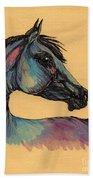 The Horse Portrait 1 Bath Towel