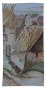 The House Of The Hanged Man After Cezanne Bath Towel