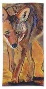 Coyote Hunting Bath Towel