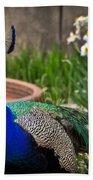 The Indian Peafowl Bath Towel