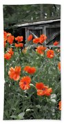 The Inspiration Of Orange Poppies Bath Towel
