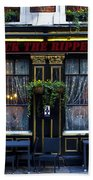 The Jack The Ripper Pub Bath Towel