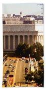 The Key Bridge And Lincoln Memorial Bath Towel