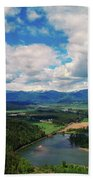 The Kootenai River Bath Towel