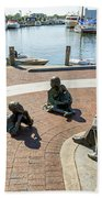 The Kunta Kinte-alex Haley Memorial In Annapolis Bath Towel