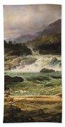 The Labro Falls At Kongsberg Bath Towel