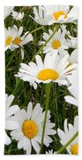 The Land Of White Daisies Bath Towel