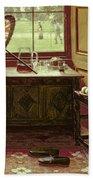 The Lawn Tennis Season, 1881 Bath Towel