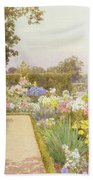 The Lily Border At Great Tangley Manor Bath Towel