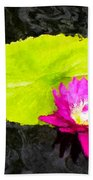 The Lily Pad And Flower... Bath Towel