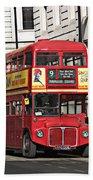 Vintage London Bus Bath Towel