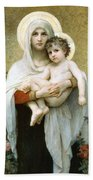 The Madonna Of The Roses Bath Towel
