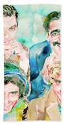 The Marx Brothers / Watercolor Painting Bath Towel
