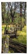 The Meadow Fence Bath Towel