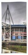 The Millennium Stadium With Flag Bath Towel