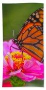 The Monarch's Flower Bath Towel