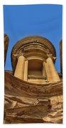 The Monastery In Petra Bath Towel