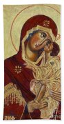 The Mother Of God -the Don Icon Bath Towel