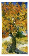 The Mulberry Tree After Van Gogh Bath Towel
