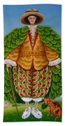The New Vestments Ivor Cutler As Character In Edward Lear Poem, 1994 Oils And Tempera On Panel Bath Towel