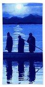 The Night Fishermen Bath Towel