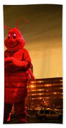 The Night Of The Lobster Man Bath Towel