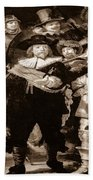 The Night Watch By Rembrandt Bath Towel