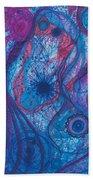The Ocean's Blue Heart Bath Sheet