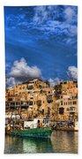 the old Jaffa port Bath Towel