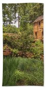 The Old Mill And Pond Bath Towel