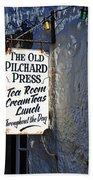 The Old Pilchard Press Bath Towel