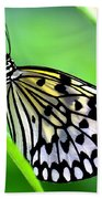 The Paper Kite Or Rice Paper Or Large Tree Nymph Butterfly Also Known As Idea Leuconoe Bath Towel