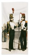 The Parisian Municipale Guard, Formed 29th July 1830 Coloured Engraving Bath Towel