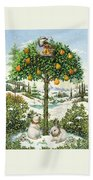 The Partridge In A Pear Tree Bath Towel