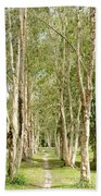 The Path Between The Trees Bath Towel