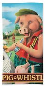 The Pig & Whistle Bath Towel