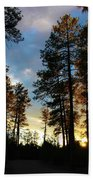 The Pines At Sunset Bath Towel