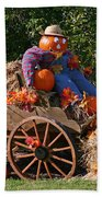 The Pumpkin Farmer Bath Towel