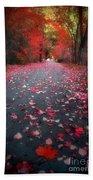 The Red Leaf Bath Towel